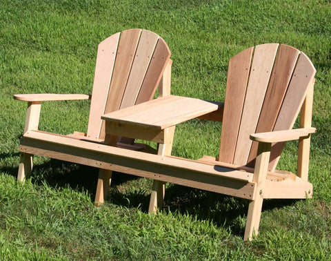 Creekvine Designs - Creekvine Designs, Cedar Adirondack Settee -  - Outdoor Living  - Yard Outlet - 1