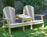 Creekvine Designs - Creekvine Designs, Cedar Adirondack Settee -  - Outdoor Living  - Yard Outlet - 2