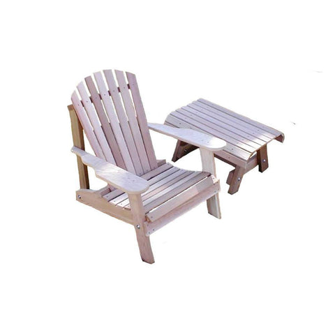 Creekvine Designs - Creekvine Designs, Cedar American Forest Adirondack Chair & Table Set - Default Title - Outdoor Living  - Yard Outlet