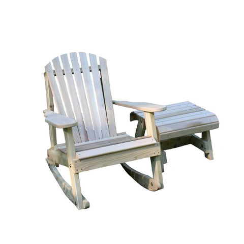 Creekvine Designs - Creekvine Designs, Cedar American Forest Adirondack Rocker & Side Table Set - Default Title - Outdoor Living  - Yard Outlet