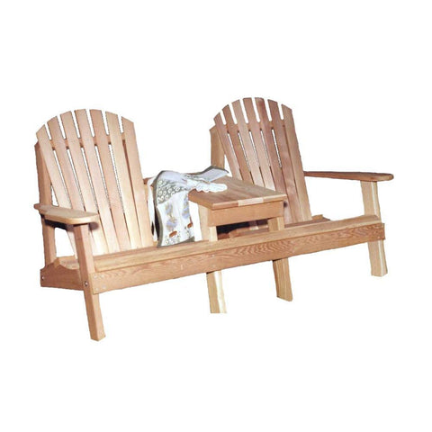 Creekvine Designs - Creekvine Designs, Cedar American Forest Adirondack Settee - Default Title - Outdoor Living  - Yard Outlet