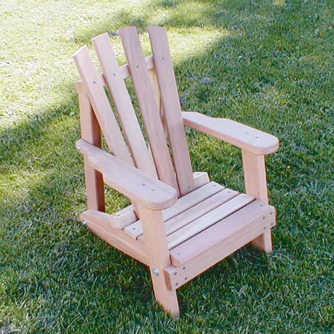 Creekvine Designs - Creekvine Designs, Cedar Child Size Wide Slat Adirondack Chair - Default Title - Outdoor Living  - Yard Outlet