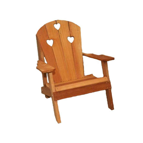 Creekvine Designs - Creekvine Designs, Cedar Country Hearts Adirondack Chair - Default Title - Outdoor Living  - Yard Outlet