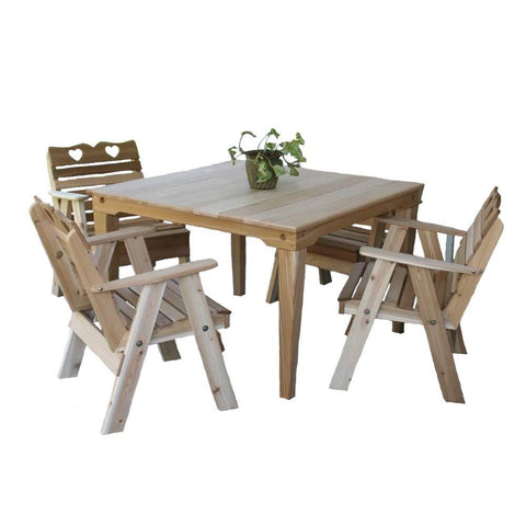 Creekvine Designs - Creekvine Designs, Cedar Country Hearts Dining Set - Default Title - Outdoor Living  - Yard Outlet - 1