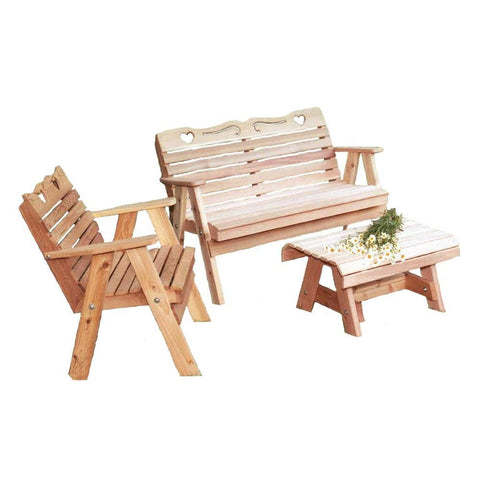 Creekvine Designs - Creekvine Designs, Cedar Country Hearts Furniture Collection - Default Title - Outdoor Living  - Yard Outlet