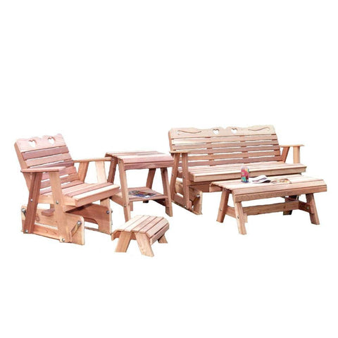 Creekvine Designs - Creekvine Designs, Cedar Country Hearts Glider Collection - Default Title - Outdoor Living  - Yard Outlet