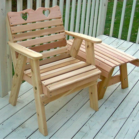Creekvine Designs - Creekvine Designs, Cedar Country Hearts Patio Chair - Default Title - Outdoor Living  - Yard Outlet