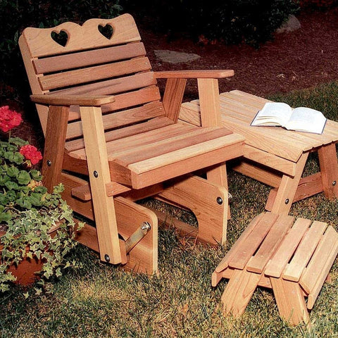 Creekvine Designs - Creekvine Designs, Cedar Country Hearts Rocking Glider Chair - Default Title - Outdoor Living  - Yard Outlet