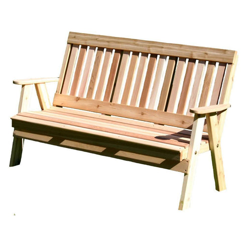 Creekvine Designs - Creekvine Designs, Cedar Countryside Garden Bench - 2 Foot Bench - Outdoor Living  - Yard Outlet