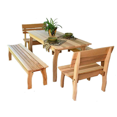 Creekvine Designs - Creekvine Designs, Cedar Gathering Dining Set - 46 x 32 - Outdoor Living  - Yard Outlet