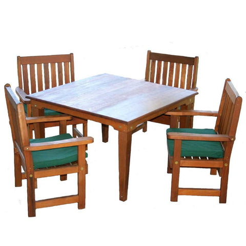 Creekvine Designs - Creekvine Designs, Cedar Get-Together Dining Set - 47 Inch Table with (4) Chairs - Outdoor Living  - Yard Outlet
