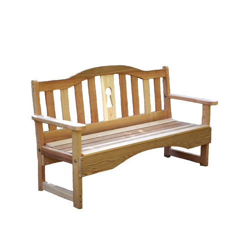 Creekvine Designs - Creekvine Designs, Cedar Keyway Garden Bench - 2 Foot Bench - Outdoor Living  - Yard Outlet - 1