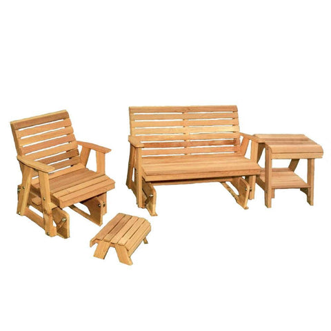 Creekvine Designs - Creekvine Designs, Cedar Rocking Classic Gliders & Tables Set - Default Title - Outdoor Living  - Yard Outlet