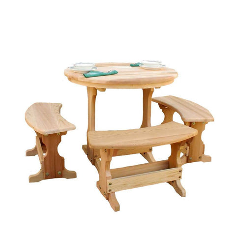 Creekvine Designs - Creekvine Designs, Cedar Round Trestle Dining Set - Default Title - Outdoor Living  - Yard Outlet
