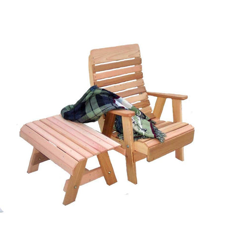 Creekvine Designs - Creekvine Designs, Cedar Twin Ponds Chair & Table Set - Default Title - Outdoor Living  - Yard Outlet