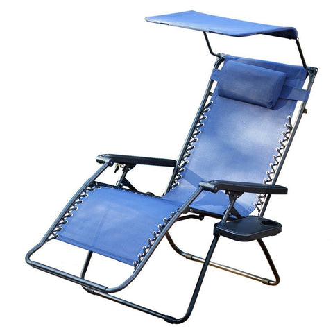 ... Jeco, Oversized Zero Gravity Chair With Sunshade And Drink Tray   Jeco  ...