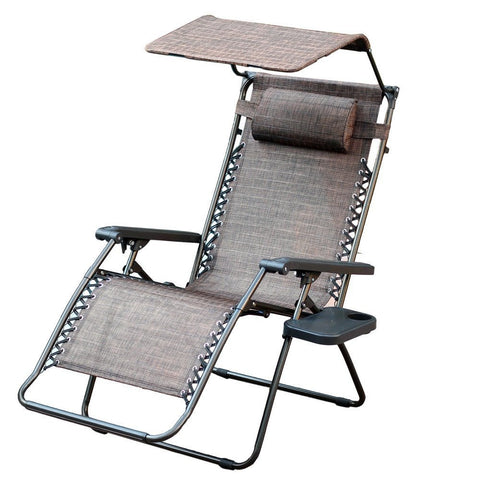Superbe ... Jeco, Set Of 2 Jeco Oversized Zero Gravity Chair With Sunshade And  Drink Tray ...