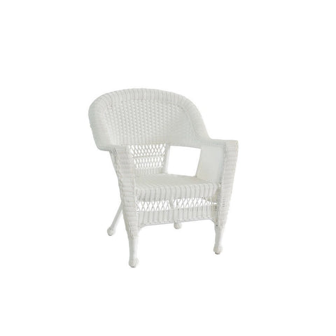 Jeco, White Wicker Chair - Jeco