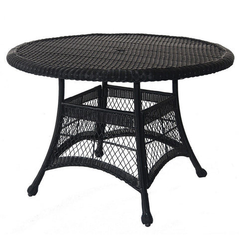 Jeco Wicker Inch Round Dining Table Yard Outlet - 44 inch round dining table with leaf