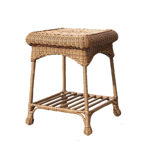Jeco Wicker Patio End Table Yard Outlet
