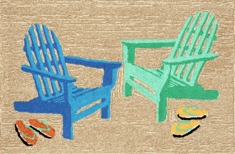 Liora Manne - Indoor and Outdoor Frontporch Adirondack Seaside Rug 1466/04 - Liora Manne