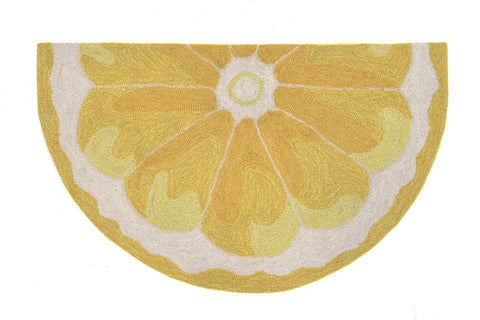 Liora Manne - Indoor and Outdoor Frontporch Lemon Slice Yellow Rug 1556/09 - Liora Manne