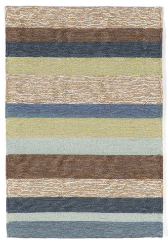 Liora Manne - Indoor and Outdoor Ravella Stripe Denim Rug 1900/33 - Liora Manne