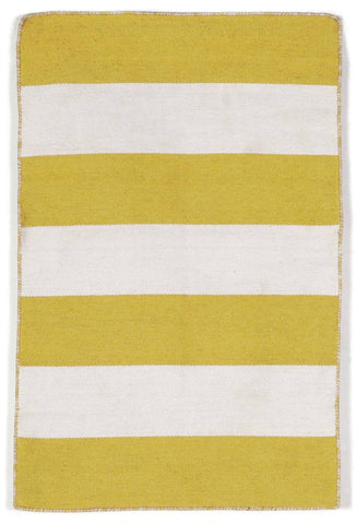 Liora Manne - Indoor and Outdoor Sorrento Rugby Stripe Yellow Rug 6302/09 - Liora Manne