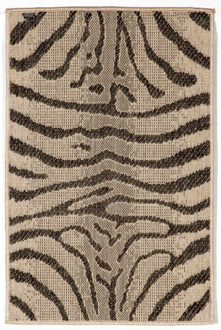 Liora Manne - Indoor and Outdoor Terrace Zebra Charcoal Rug 1712/67 - Liora Manne