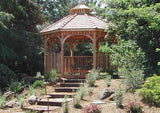 Outdoor Living Today - BAYSIDE12 - 12 ft Bayside Octagon Gazebo- Panelized (Includes 2 Tier Cupola) - Outdoor Living Today
