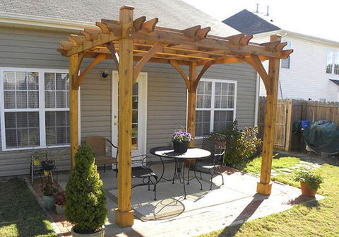 Outdoor Living Today - BZ810 - 8 x 10 4 Post Breeze Pergola - Outdoor Living Today