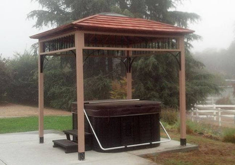Outdoor Living Today - 9 x 9 Naramata Spa Shelter - Outdoor Living Today