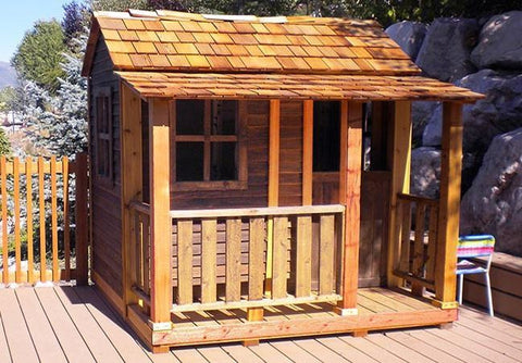 ... Outdoor Living Today   LCP66 6 X 6 Little Cedar Playhouse   3  Functional Windows With ...
