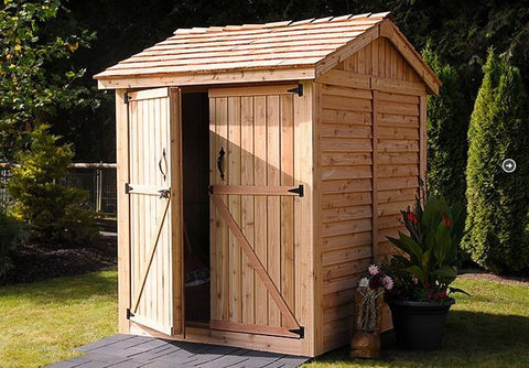 Outdoor Living Today - M66 6 x 6 Maximizer Storage Shed - Cedar Shingles Not Included - Outdoor Living Today