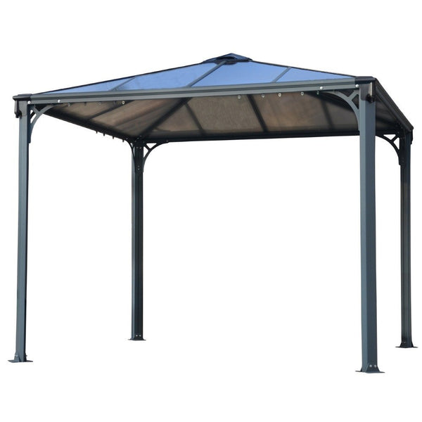 palermo gray and bronze 10 foot x 10 foot 3000 gazebo. Black Bedroom Furniture Sets. Home Design Ideas