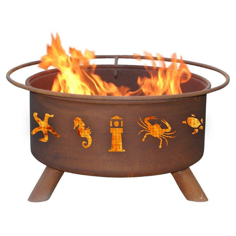 Patina Products - F116 Atlantic Coast Fire Pit, Natural Patina Rust Finish - Patina Products