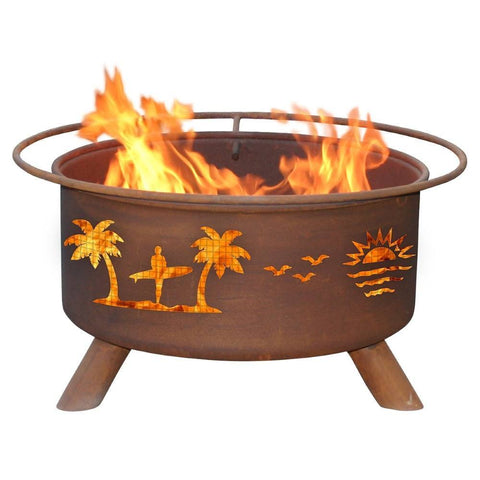 Patina Products - F117 Pacific Coast Fire Pit, Natural Patina Rust Finish - Patina Products