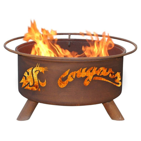 Patina Products - F216 Washington State University, Washington State Cougars Fire Pit, Natural Patina Rust Finish - Patina Products