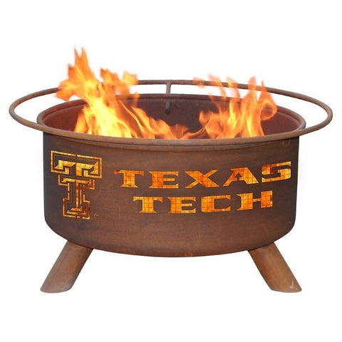 Patina Products - F233 Texas Tech University, Texas Tech Red Raiders Fire Pit, Natural Patina Rust Finish - Patina Products