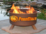 Patina Products - F240 Pennsylvania State University Fire Pit, Penn State Nittany Lions Fire Pit, Natural Patina Rust Finish - Patina Products