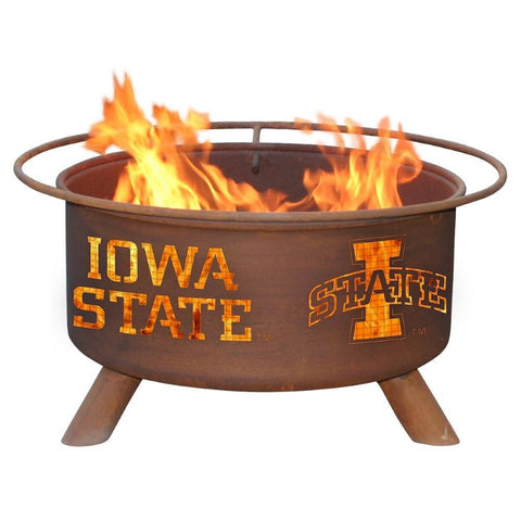 Patina Products - F247 Iowa State Fire Pit, Iowa State Cyclones, Natural Patina Rust Finish - Patina Products