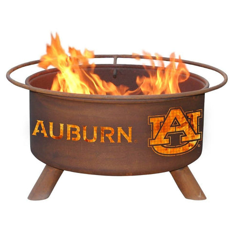 Patina Products - F405 Auburn University Fire Pit, Auburn Tigers, Natural Patina Rust Finish - Patina Products