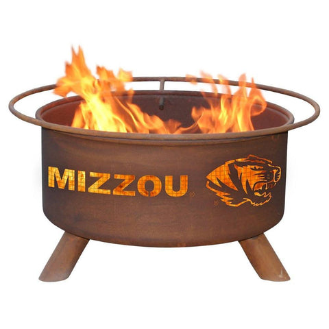 Patina Products - F409 University of Missouri Fire Pit, Mizzou Tigers, Natural Patina Rust Finish - Patina Products