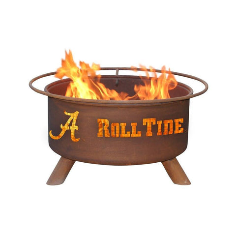 Patina Products - F410 University of Alabama Fire Pit, Crimson Tide, Natural Patina Rust Finish - Patina Products