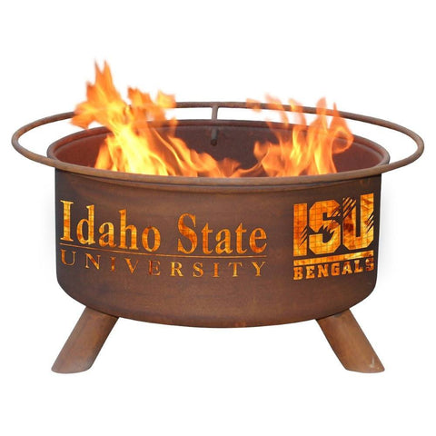 Patina Products - F412 Idaho State University Fire Pit, Idaho State University Bengals, Natural Patina Rust Finish - Patina Products
