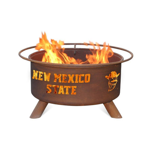 Patina Products - F426 New Mexico State Fire Pit, New Mexico State Aggies, Natural Patina Rust Finish - Patina Products