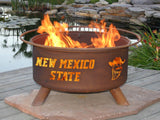 Patina Products - Patina Products - F426 New Mexico State Fire Pit, New Mexico State Aggies, Natural Patina Rust Finish -  - Outdoor Living  - Yard Outlet - 3