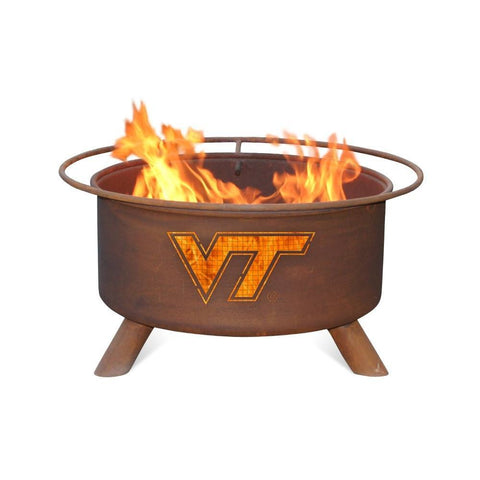 Patina Products - F431 Virginia Tech Fire Pit, Natural Patina Rust Finish - Patina Products