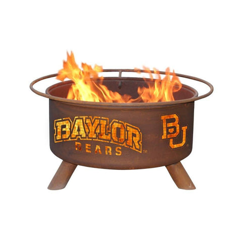 Patina Products - F461 Baylor University Fire Pit, Natural Patina Rust Finish - Patina Products