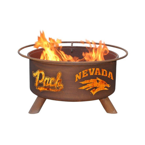 Patina Products - F464 University of Nevada Fire Pit, Natural Patina Rust Finish - Patina Products